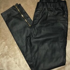 Pants - Black Leather Pants